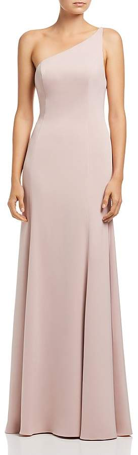 Watters Jelina One-Shoulder Gown