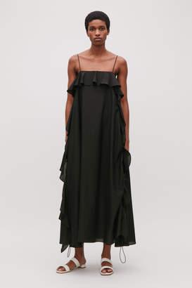 Cos FRILLED COTTON-SILK DRESS