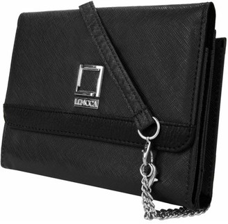 LENCCA Nikina Women's Clutch Crossbody Fashion Handbag for Tablets or Smart Phones, Fits up to 7.5 x 6 Devices