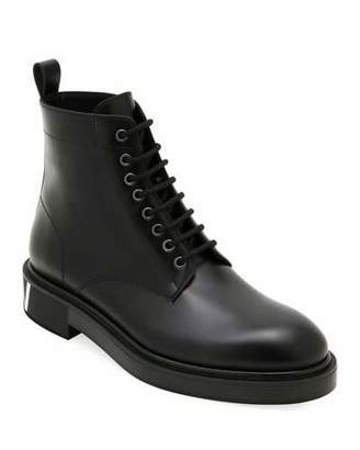 Valentino Men's Leather Lace-Up Boots