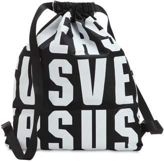 Versus Lettering Nylon Backpack