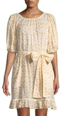 Lisa Marie Fernandez Prairie Mini Floral Sheer Dress