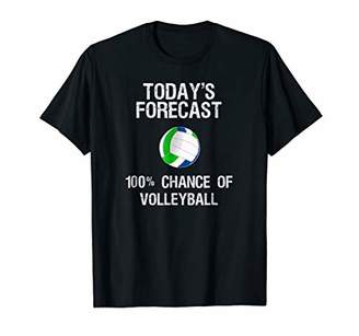 Volleyball T-shirt - Funny Today's Forecast