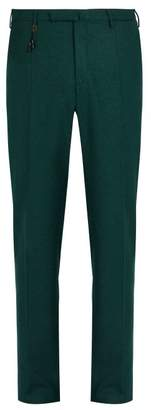 Incotex Slim Leg Wool Trousers - Mens - Green