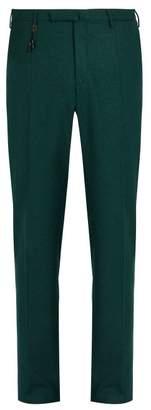 Incotex Slim Leg Wool Trousers - Mens - Green