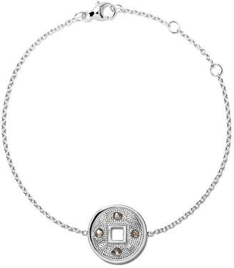 De Beers 18kt white gold Talisman Lucky Coin diamond bracelet