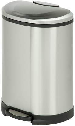 Honey-Can-Do Stainless Steel Half-Moon Step Trash Can
