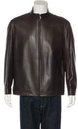 Kiton Sheepskin Zip-Up Jacket