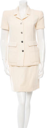 Chanel Wool Three-Piece Skirt Suit $670 thestylecure.com