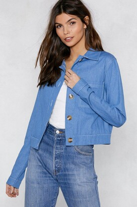 Nasty Gal Stitch It to Me Denim Jacket