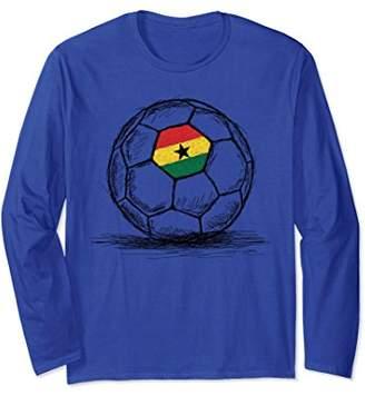 Ghana Ghanaian Flag On Soccer Ball Long Sleeve Shirt
