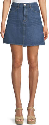 MiH Jeans Cult Step-Hem Denim Short Skirt