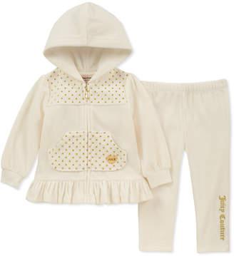 Juicy Couture 2Pc Velour Hoodie & Pant Set