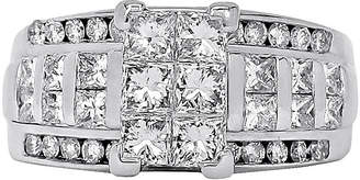 JCPenney FINE JEWELRY 2 CT. T.W. Diamond 14K White Gold Engagement Ring