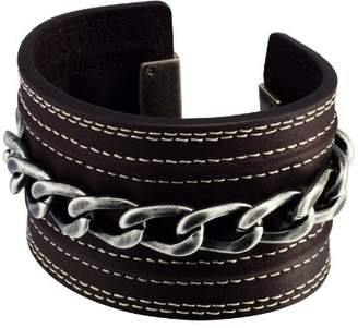 Police Riot Leather Cuff 17cms