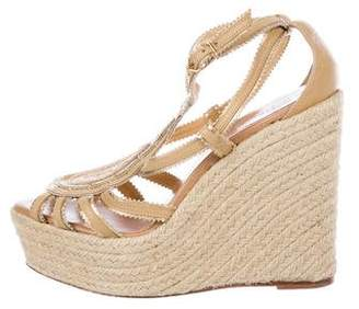 Hermes Espadrille Wedge Sandals