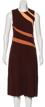 Narciso Rodriguez Colorblock Midi Dress