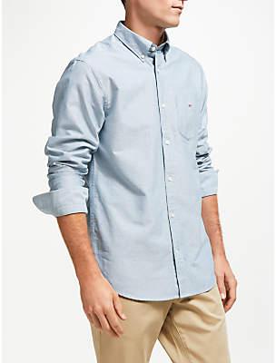 Gant Regular Fit Plain Oxford Shirt, Blue