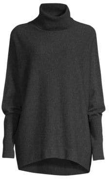 Joie Aydin Oversized Wool& Cashmere Turtleneck Sweater