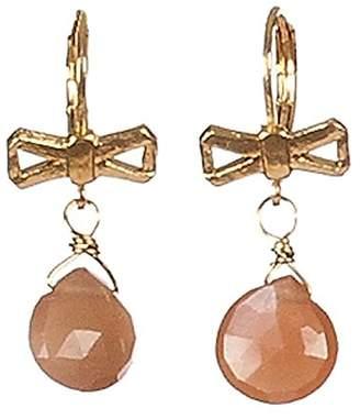 Sous le sable Pendant Earrings Gold-Plated and Carnelian-Carnelian Sorbet