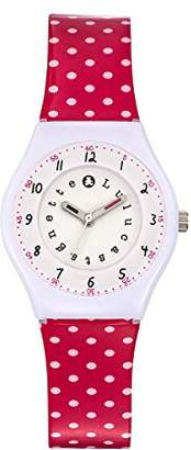 Lulu Castagnette Girl's Quartz Watch with Silver Dial Analogue Display and Plastic Multicolour - 38799