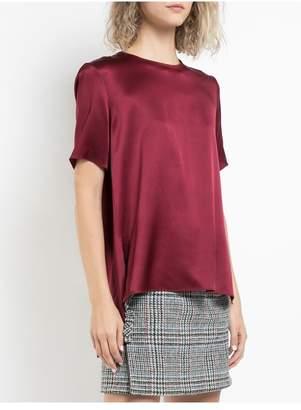 ADAM by Adam Lippes Silk Charmeuse Short Sleeve T-Shirt