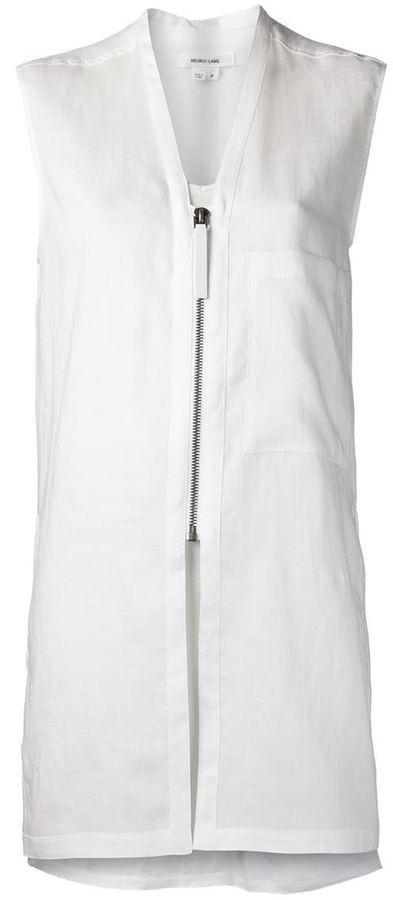 Helmut Lang long slit shirt