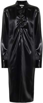 Bottega Veneta Lacquered satin shirt dress