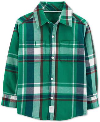 Carter's Toddler Boys Plaid Button-Front Shirt