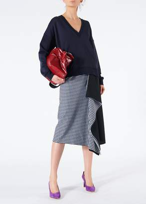Tibi Gingham Asymmetrical Skirt