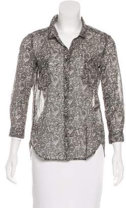 The Kooples Paisley Print Button-Up Top