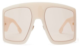 43875f966b7 Christian Dior Diorsolight1 Oversized Acetate Sunglasses - Womens - White