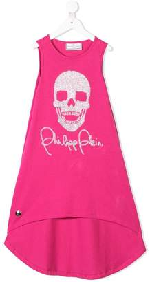 Philipp Plein Junior TEEN skull embellished dress