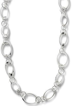Bold Elements Worthington Silver-Tone Circle Link Long Necklace $24 thestylecure.com