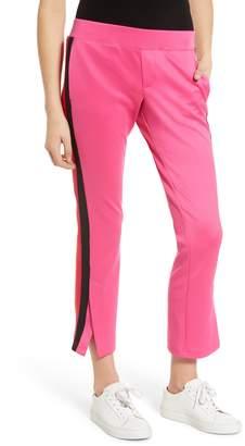 Pam & Gela Tricolor Stripe Crop Flare Pants