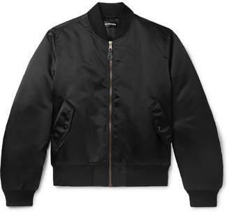 Balenciaga Oversized Embroidered Satin Bomber Jacket