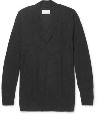 Maison Margiela Oversized Cashmere And Wool-Blend Sweater