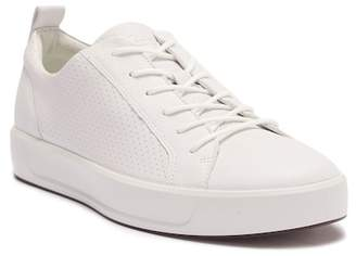 Ecco Soft 8 Perforated Leather Sneaker