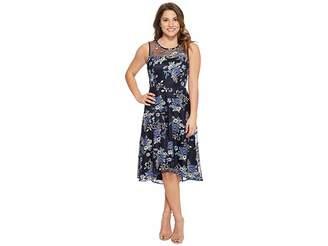 Tahari ASL Petite Applique Party Dress