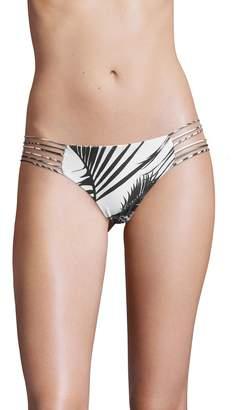 Mikoh Women's Kapalua Multi String Back Bandeau Bikini Bottom
