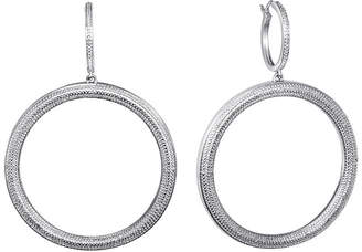 ADDICTION FINE JEWELRY Diamond Pure Silver-Plated 1/10 CT. T.W. Diamond Hoop Earrings