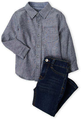 Hudson Toddler Boys) Two-Piece Pocket Shirt & Jeans Set