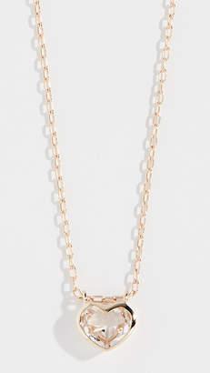 Jane Taylor 14k Large Heart Bezel Necklace