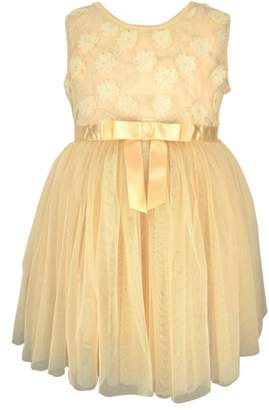 Popatu Flower Ribbon Tulle Dress
