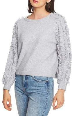 1 STATE 1.STATE Fringed-Sleeve Sweater