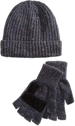 Ryan Seacrest Distinction Men's Donegal Beanie & Gloves Set