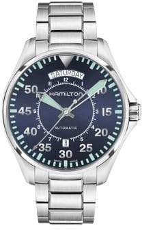Hamilton Khaki Aviation Stainless Steel Automatic Bracelet Watch