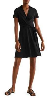 MANGO Bow Short-Sleeve Dress