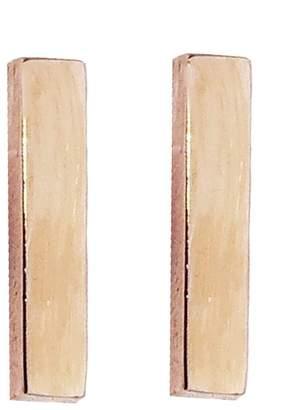 Jennifer Meyer Bar Stud Earrings - Rose Gold