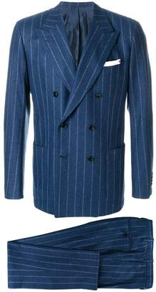 Kiton pinstriped suit